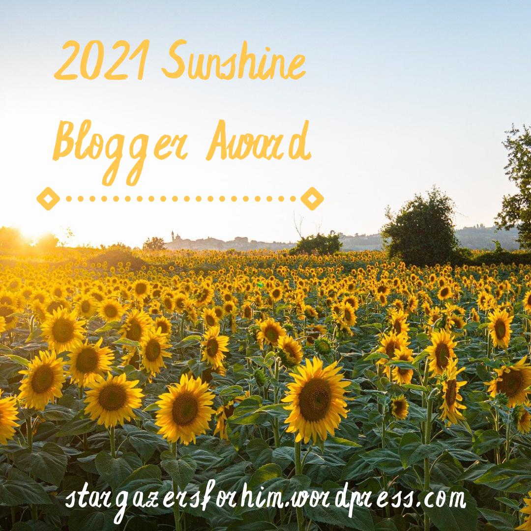 2021 Sunshine Blogger Award