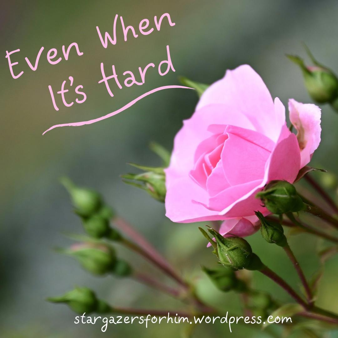 Even When It's Hard